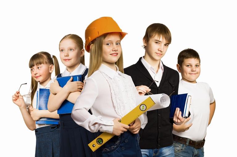 Дети и выбор профессии / children and choice of profession - raster clipart